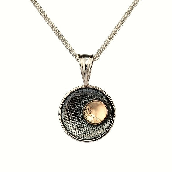 Moonlight Pendant - Sterling Silver and 9ct Gold – Simon Barber