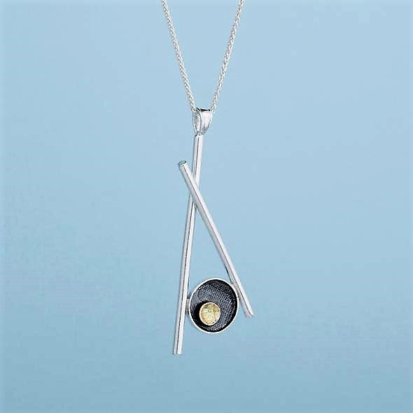Pick Me Up Pendant - Sterling Silver and 9ct Gold – Simon Barber