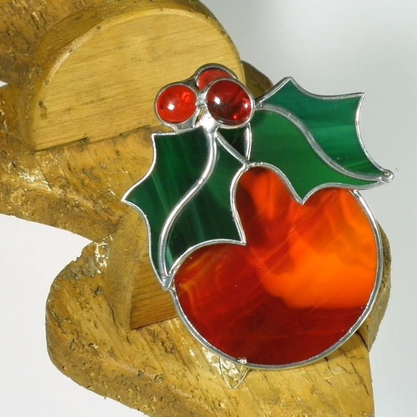 Red Christmas Bauble - Stained Glass Suncatcher – Ard aLume