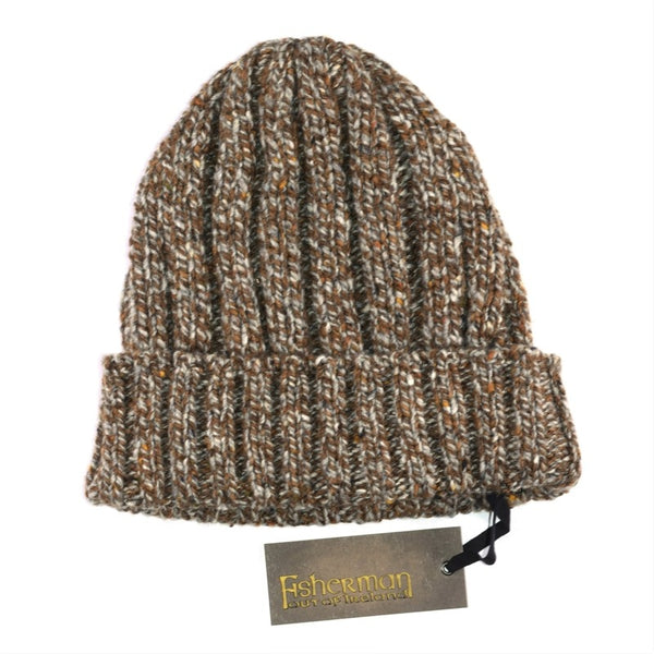 Ribbed Hat - Toffee - Fisherman Out of Ireland