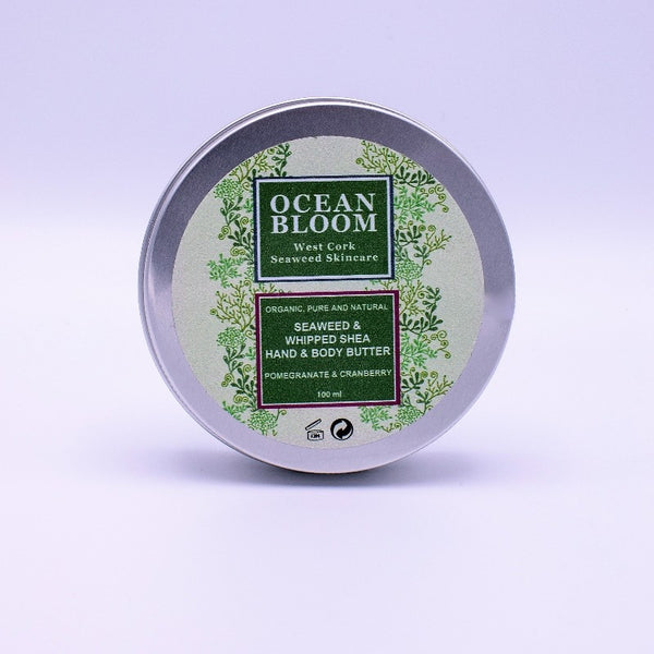 Seaweed and Whipped Shea Hand and Body Butter – Pomegranate and Cranberry Fragrance - Ocean Bloom