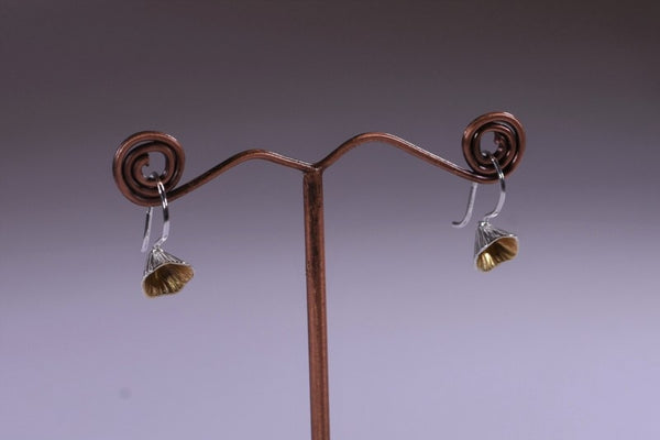 Shell Cone Small Drop Earrings - Sterling Silver & Gold - Martina Hamilton