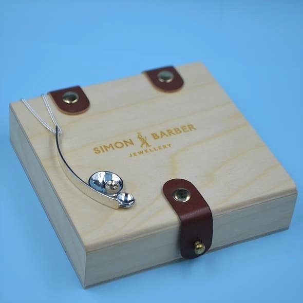 Side By Side Pendant - Sterling Silver and 9ct Gold – Simon Barber - with box