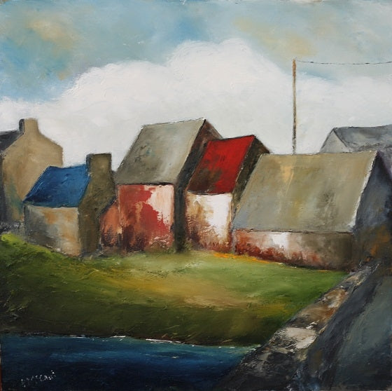 Village Rooftops - Limited Edition Print - Padraig McCaul