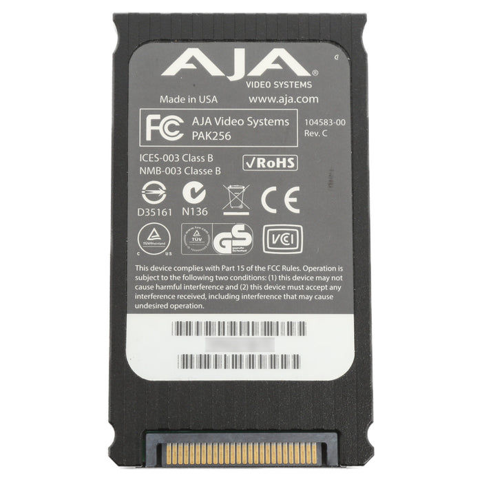 【中古品】AJA Video Systems PAK256-R2-SSD Ki Pro Ultra(Plus)&Quad/CION専用 256GB SSD Module