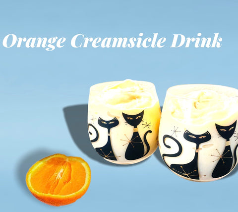graphic showing two orange creamsicle smoothies