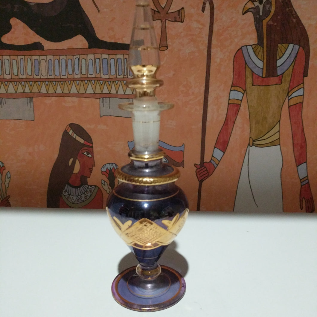 Egyptian collectable   hand made  Egyptian pyrex perfume bottle