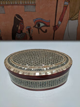 Load image into Gallery viewer, Egyptian collectable mother of pearl box