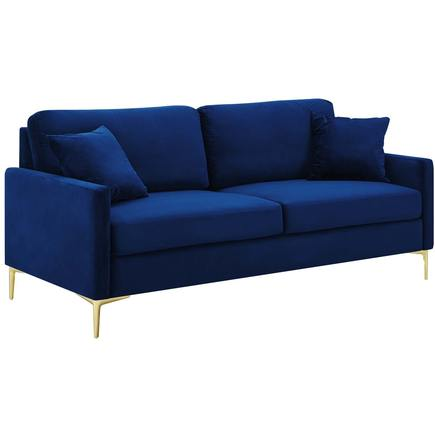 Chasity Velvet Sofa in Navy