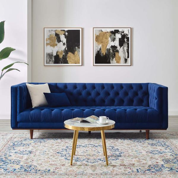 Tufted Performance Velvet Sofa