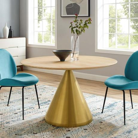 "47"" Dining Table in Gold (Natural)"