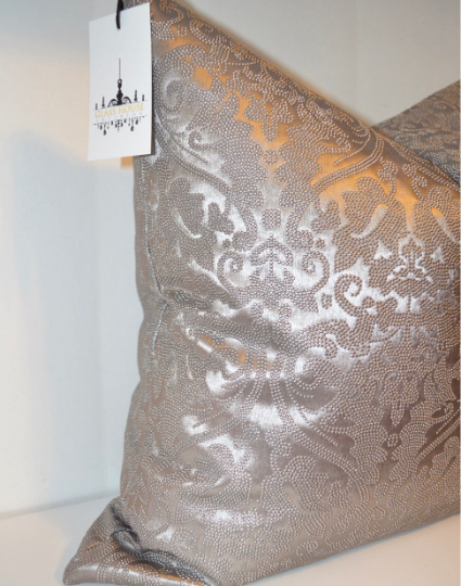 Luxe Embossed Damask Pillow