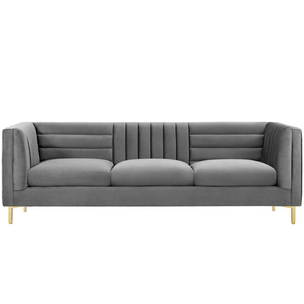 Naomi Performance Velvet Sofa
