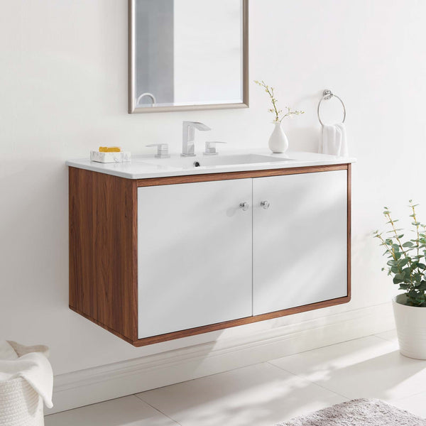 "36"" Wall-Mount Bathroom Vanity"