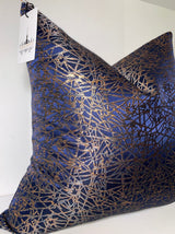 After Dark Navy and Copper Pillow