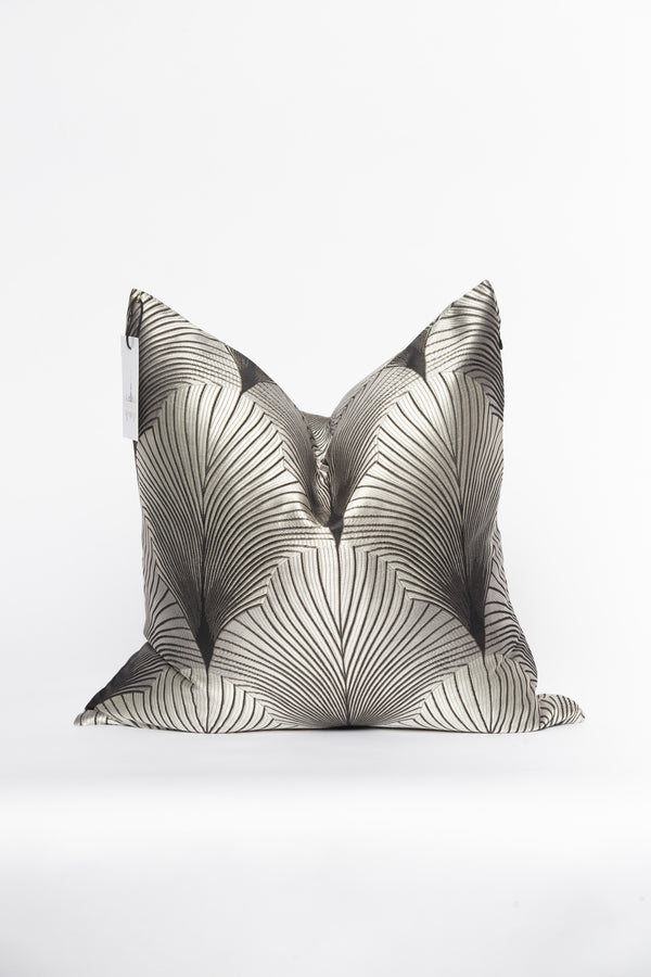 20 Below Silver and Black Pillow