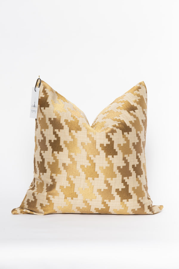 24K Gold and Beige Pillow