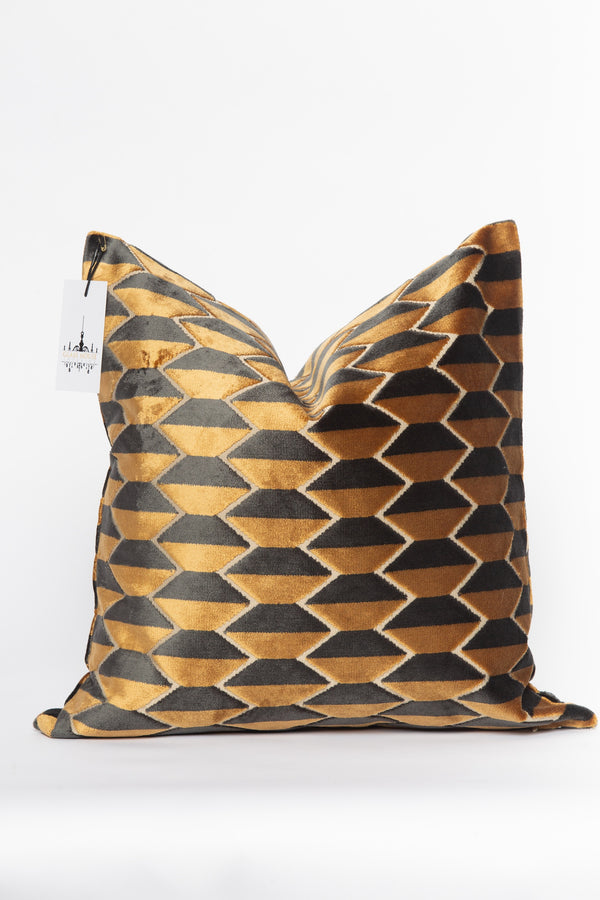 Chi Gold and Black Pillow