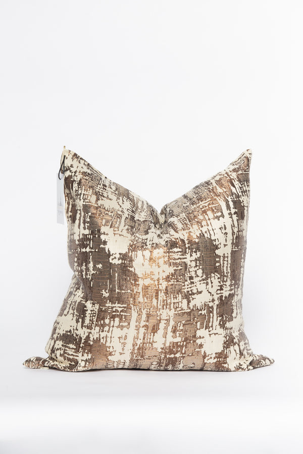 Jupiter Copper and Ivory Metallic Pillow