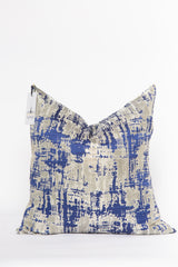 Galaxy Navy and Silver Metallic Abstract Pillow