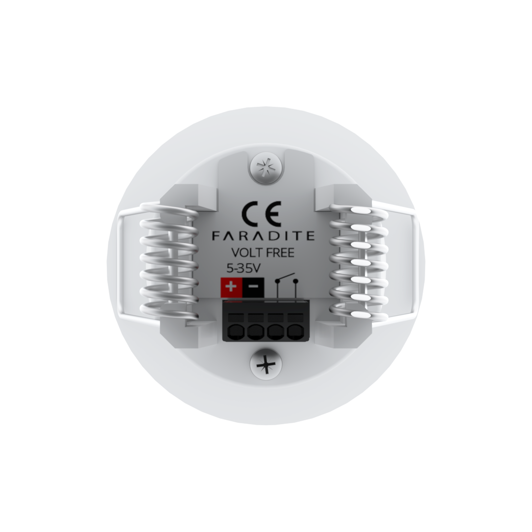 MOTION SENSOR 360 WHITE- VOLT FREE (DRY CONTACT)
