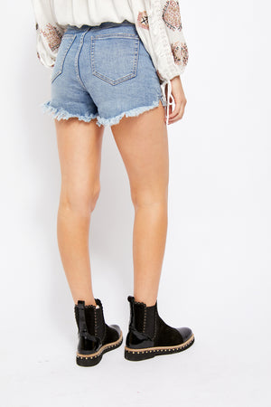 FREE PEOPLE VINTAGE HIGH RISE JEAN SHORTS