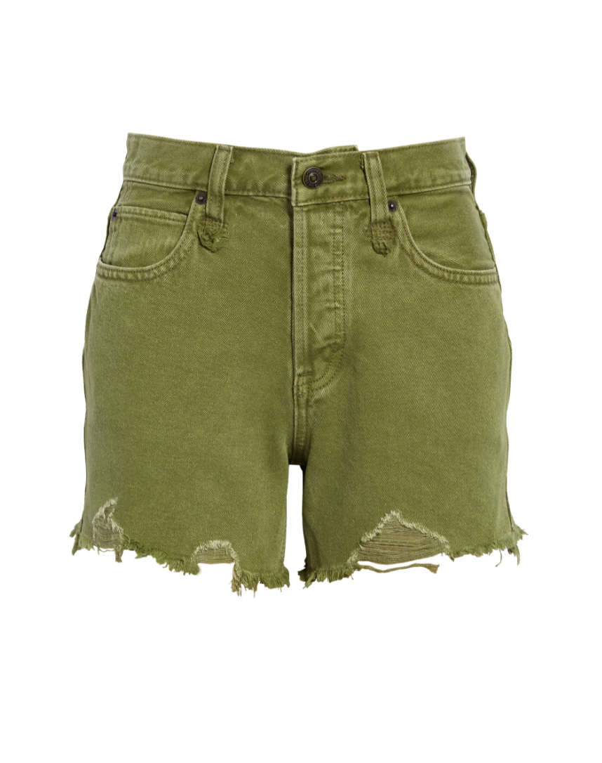 FREE PEOPLE MAKAI CUT OFF SHORTS IN OLIVE