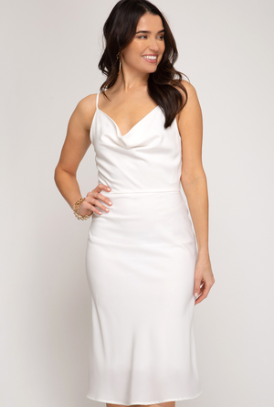 LORA LITTLE WHITE MIDI DRESS