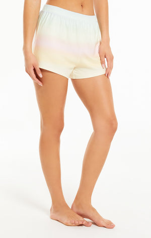 Z SUPPLY FRIYAY RAINBOW SHORTS - Every day can be Friyay with these light ombre, rainbow shorts.  Super soft, pull-on shorts in a silky jersey knit fabric, grab the Skylar Rainbow Top for the ultimate cozy lounge set.