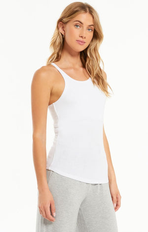 Z SUPPLY LAYER UP RIB TANK IN WHITE