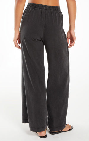 Z SUPPLY SCOUT COTTON JERSEY PANT IN BLACK
