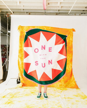 BAN.DO ONE WITH THE SUN GIANT CIRCLE TOWEL