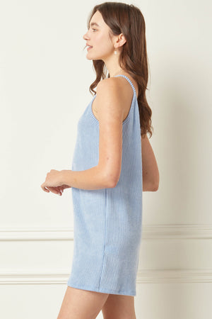 YATES ROMPER IN BLUE