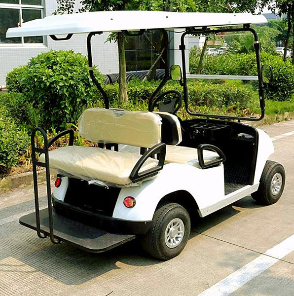DG-C2_2-seater-electric-golf-cart--in-white-rearview-buy-online-at-thesolpatch-com