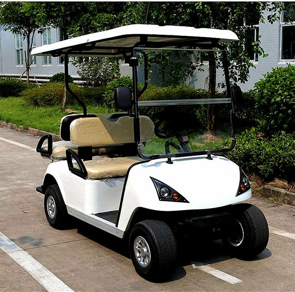 DG-C2_2-seater-electric-golf-cart--in-white-streetside-buy-online-at-thesolpatch-com