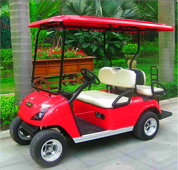 DG-C2_2-seater-electric-golf-cart-sideview-in-red-buy-online-at-thesolpatch-com