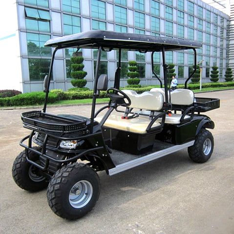 electric-golf-cart-model-DH-C4--blacck-with-white-seats-buy-online-at-thesolpatch.com