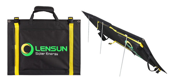 LENSUN 100W PORTABLE FOLDING SOLAR PANEL