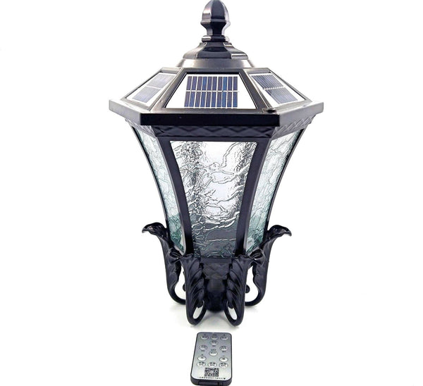 Neoclassical-Solar-LED-Light-turned-off-with-remote-sold-online-at-TheSolPatch-com