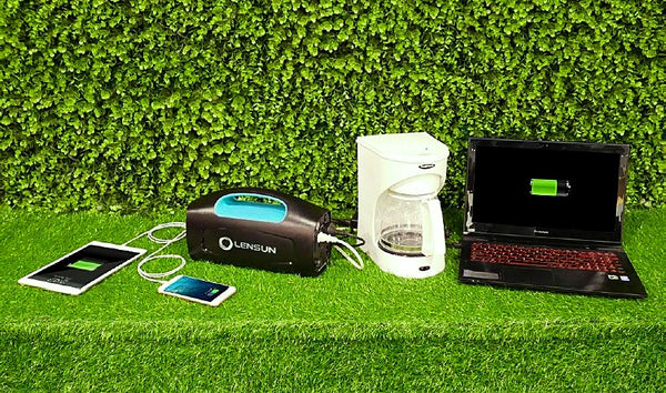 powering-appliances-using-lensun-portable-solar-generator-and-folding-solar-panels-bundle-buy-at-thesolpatch-com