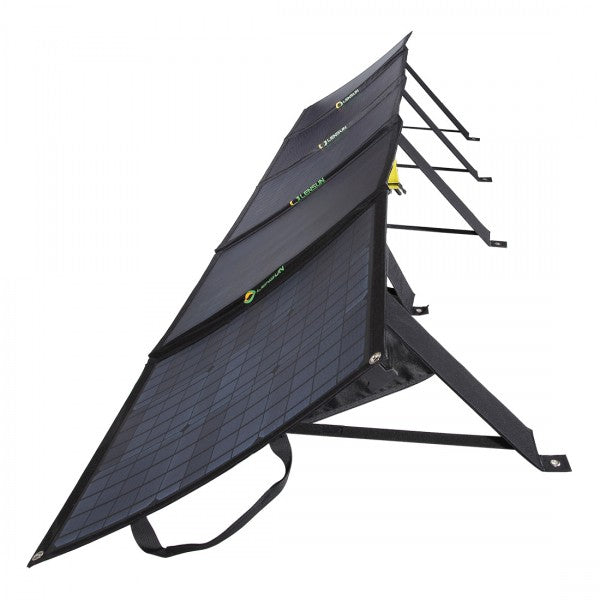 side-view-of-open-solar-panel-for-portable-solar-generator-and-folding-solar-panels-bundle-buy-at-thesolpatch-com