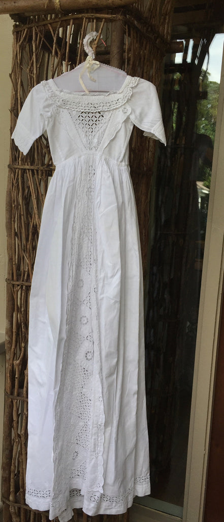 Estate Collection Christening Gown - 1850's with Embroidered Robings