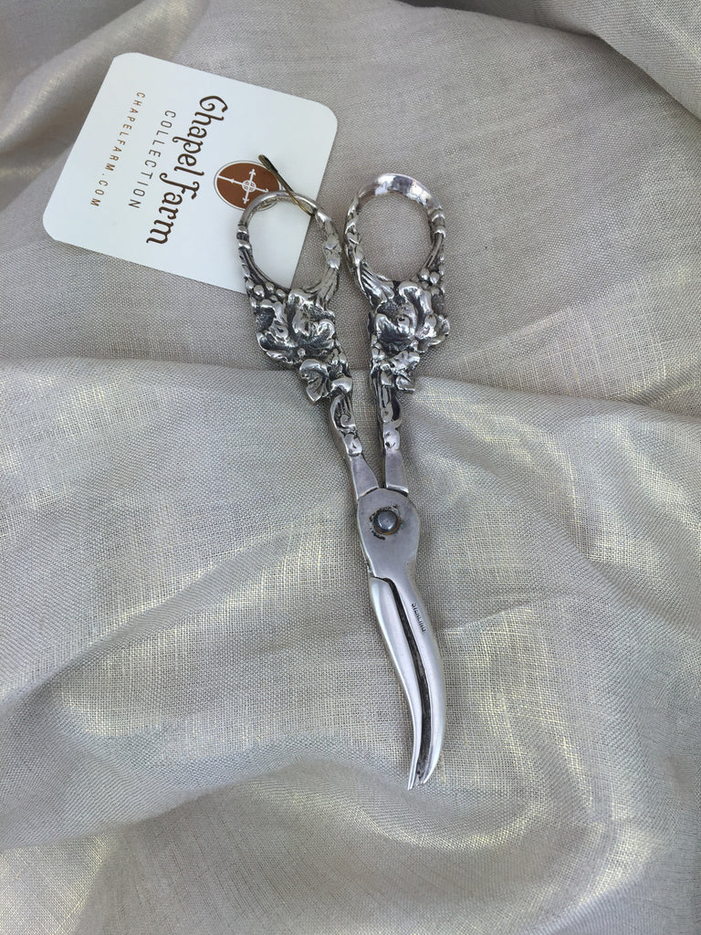 Estate Collection Antique Sterling Grape Shears