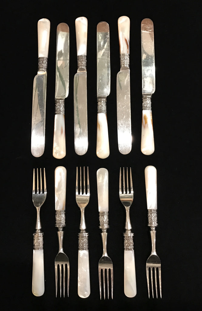 Estate Collection Antique & Sterling Dessert Set