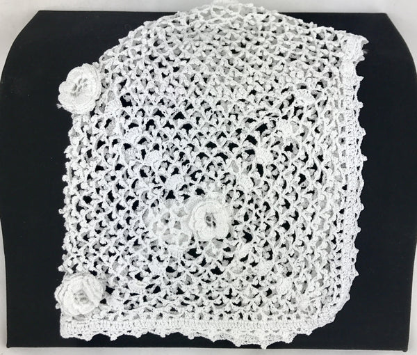 Estate Collection Baby Bonnet - Vintage Hand Crochet
