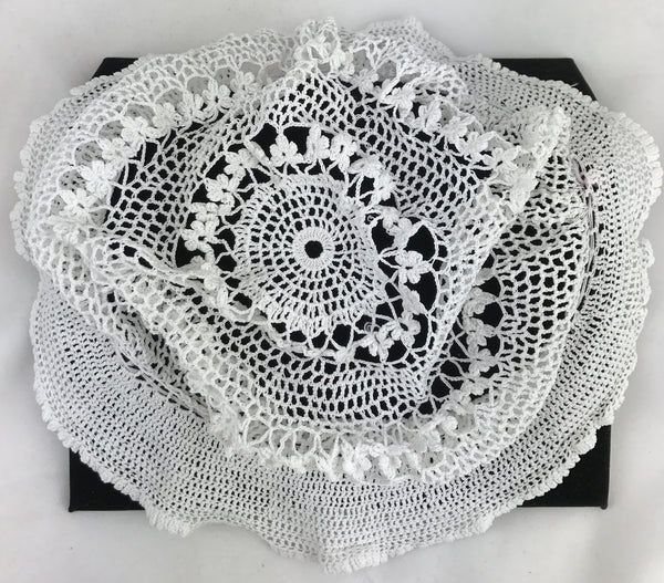 Estate Collection Baby Bonnet - Vintage Hand Crochet Child's Hat