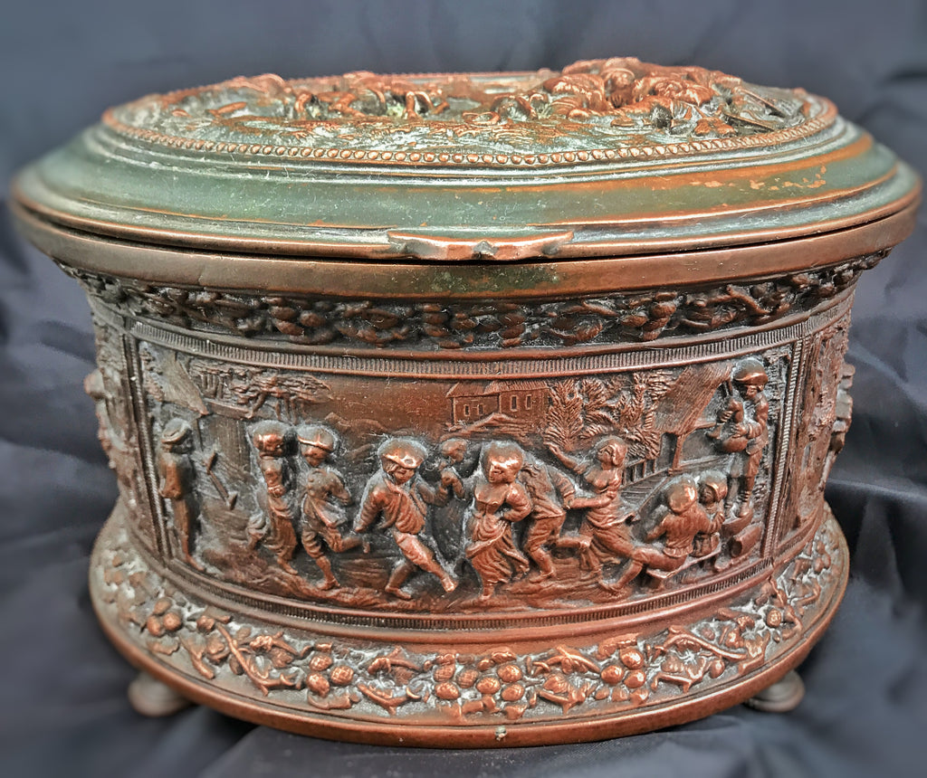 Estate Collection Antique Revolutionary War Bronze Box