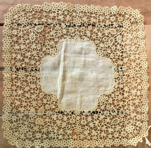 Estate Collection Handkerchief - Irish Carrickmacross Lace