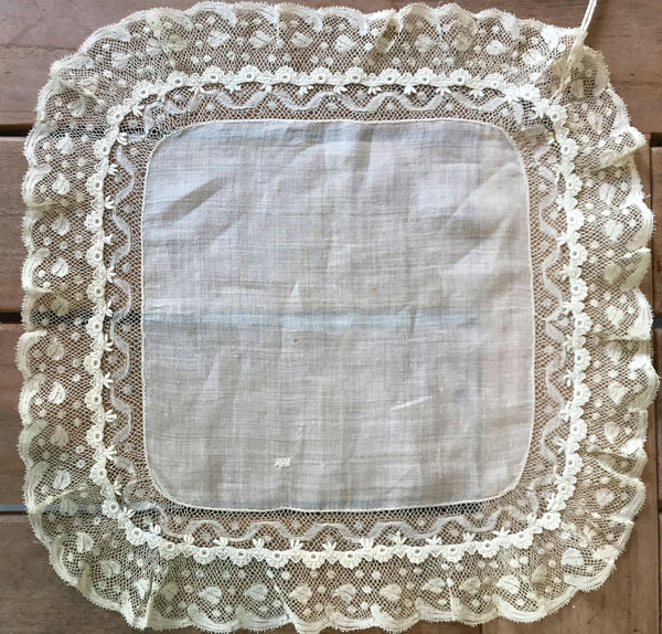 Estate Collection Handkerchief - Valenciennes Lace
