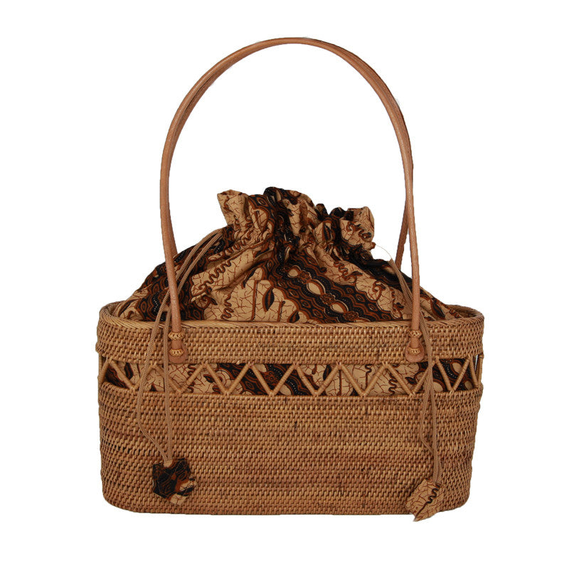 Purse - Tote with Batik